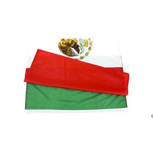 Vente en gros d'usine directe prête à expédier 3x5 fts 90x150cm mx Mexicanos Drapeau mexicain du Mexique DHD5964