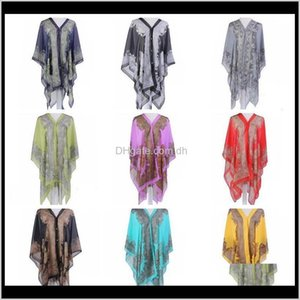 Other Textile Textiles Home Garden Drop Delivery 2021 Sunscreen Shawl Driving Beach Wraps Chiffon Thin Coat Scarves Print Bikini Cover Ups Wo