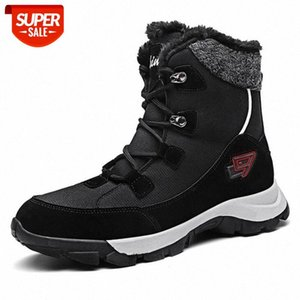 Long Plush Mens Snow Boots Winter Anti-Skidding Leather Shoes High Top Mens Sneakers Big Size Male Rubber Ankle Boots Work Shoes #Z75r
