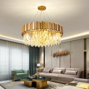 Modern Gold Chandelier Pendant Lamps for Living room Crystal Ceiling Chandeliers Dining Kitchen Restaurant Lighting LED Lamp
