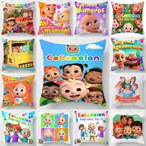 kids room cocomelon cartoon throw pillow case linen cushion covers cute novel ornaments car sofa pillowcase 45cm comelon family friend printing party decorG76BJJ0