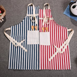 and Hemp Kitchen Cotton Oil Proof Thickened Apron Cooking Protective Clothing Korean Fashion Simple Adult Cover 962 R2