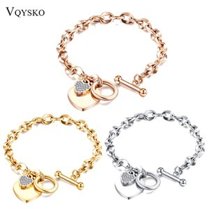 Fashion Love Heart Charm Bracelets for Women Gold Sier Color Rvs Chain Bileklik Bracelet
