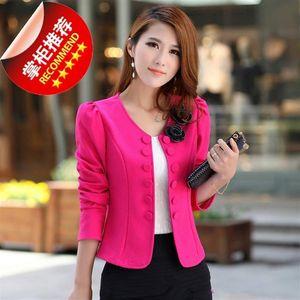 Big Size 4XL Women Office Lady Wear Suit Blazer Solid Casual Coat Jacket Long Sleeve Notched Collar Outwear Blazers Women's Suits &