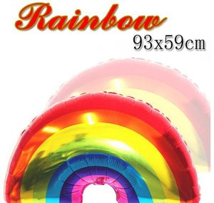 Novelty Gag Toys & Gifts Drop Delivery 2021 Helium Balloon Wedding Decoration Big Rainbow Aluminum Foil Balloons Birthday Supplies Party Favo