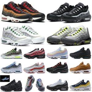 air max 95 95s airmax95 shoes tênis de corrida das mulheres dos homens retrocesso futuro ganancioso branco amarelo puxar tab preto vermelho designer de esportes tênis 36-45