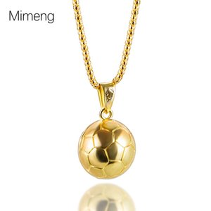 Jewelry alloy football Necklace men's gold sports ball pendant new products