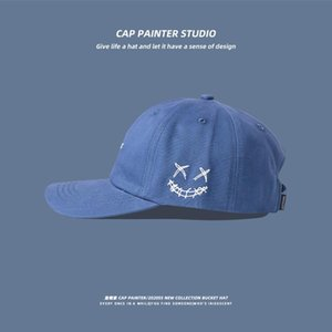 Imp Embroidered Cap Male Instagram-style Blue Sunshade Go With Baseball Korean Version Personalized Tide Women Hat Beanies