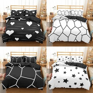 Geometric Bedding Set Marble Pattern Duvet Cover Quilt Pillowcase Bed Linen 2 3pcs Bedclothes Double King Size Sets
