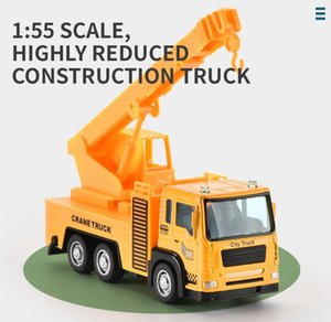 Mini Engineering Alloy Car 1:55 Pull Bakc Alloy Construction Truck Toy Model Vehicle for Boys Kids Birthday Gift 02