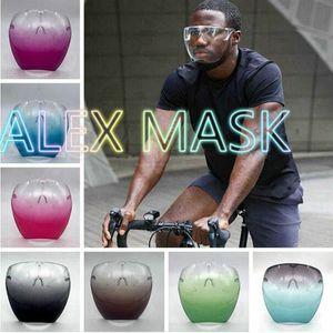 Volle Schutzflächen Schild Maske Anti-Nebel Staubsichere windsichere und kaltefeste Mode Sonnenbrille Designer Safety Gläsern Spritzerfestes Faceshield
