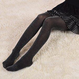 Autumn Girls Pantyhose Tights Kids Girl Leggings Gold Silver Silk Socks Fashion Sweet Children Baby Soft Stockings