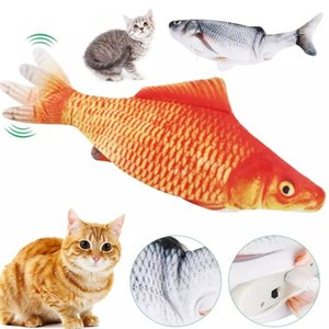 Realistic Cat Toy Fish USB Electric Charging Simulation Dancing Jumping Moviny For Cats Toys Interactive lz0461