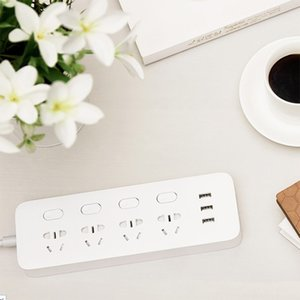 Xiaomi Youpin Mijia Power Socket Strip With Switch 3 USB 2A Fast Charging Adapter Mi Extension Sockets