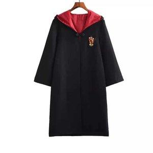 Witchcraft And Wizard School Robe Cloak Sweater Dress Cosplay Unisex Children Women Men Adult Pastor Witch Halloween Costume Y0913
