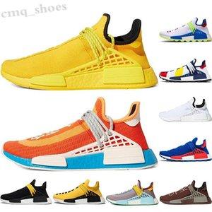 Adidas PW HUMAN RACE NMD Pharrell Williams Solar Pack Мать BBC Черная Обувь Желтый Мужской Человеческий Ран Спорт Спорт Ботаник Насудные Горсельные кроссовки WT08