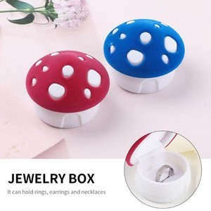 Jewelry Pouches, Bags 1PC Elegant Cute Mushroom Ring Box Velvet Storage Gift Container Wedding Display Package Holder For Earring