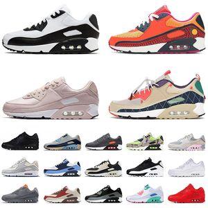 Высокое качество 90-х годов кроссовки мужские женские спортивные кроссовки большие размеры нам 12 прохладный серый UNC розовый Глазго зеленые белые чернокожих мужчин женские тренеры EUR 36-46