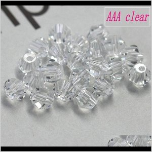 Aaa Quality 100Pcspack 34Mm Crystal Be Spacer Glass Loose Beads Bracelet Accessories For Jewelry Making Diy Wmtooo U0Pkp Chqcn