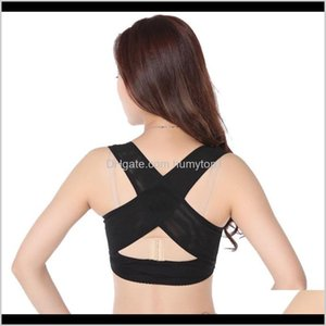 Safety Athletic Outdoor Accs Sports Outdoors Drop Delivery 2021 Ladies Women Adjustable Shoulder Back Posture Corrector Chest Brace Support B