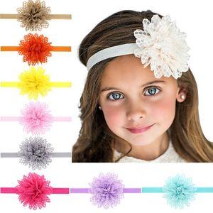 Кружева ручной работы цветка ребенка эластичный оголовье девушки волос для волос повязки GSTG098 Mix Заказать Мода головы