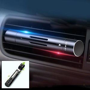 1pc Car Air Freshener Black Solid Vent Perfume Long Lasting Auto Accessories Durable And Practical