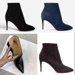 Black Boots Boots Boots Sexy Женщина Высокие каблуки Пиневки красные Нижние Насосы Paris Reds Soles Bakles Boot с молнией в коробках