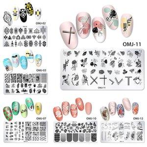 Lace Flowers Nail Stamping Plates Mandala Geometric Nail Art Stamp Templates Polish Printing Stencils Manicure Tools
