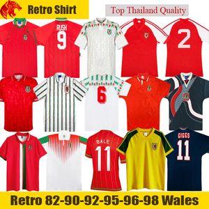 1982 1990 1993 Футболка Gales Wales в стиле ретро 1992 1994 1995 1996 1998 Giggs Hughes HOME AWAY Saunders Rush Boden Speed винтажная классическая футбольная рубашка