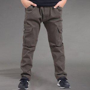 Trousers 2021 Fashion Autumn Kids Solid Pants Boys Casual Cotton Clothing Straight Long Children Sport J60