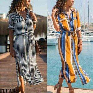 2019 Hot Spring Summer Dress Women's Boho Casual Long Maxi Dress Evening Party Beach Dress Sundress Good for Wholesale