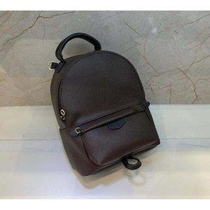 팜 스프링스 더블 어깨 배낭 고품질 어린이 책장 정품 가죽 학교 가방 여성 지갑