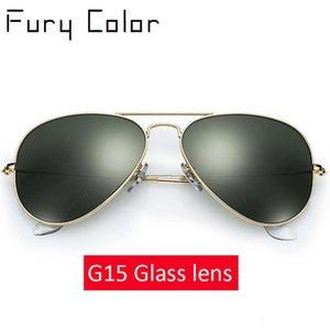 العدسات الزجاجية الحقيقية الكلاسيكية خمر نظارات النساء الرجال الفاخرة تصميم ماركة القيادة الرجعية النظارات الشمسية السيدات نظارات الشمس للذكور