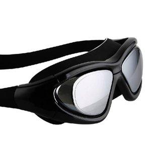 Goggles HD Waterproof Swimming Anti-fog Adjustable Swim Training Diving Glasses Equipment Plain