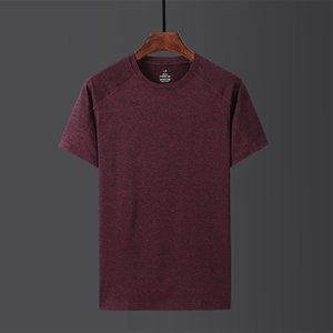 Luxury T-shirts 2021 Summer Short Sleeve Ice Silk Sliding Material Fat Breathable Quick Drying Top Couple Men's Loose T-shirt