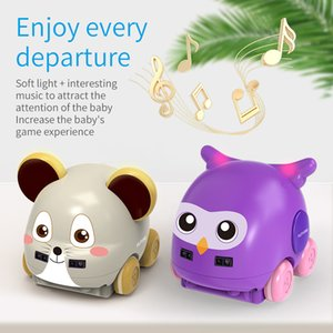 Cartoon Animal remote Control Induction Track RC Car mini for Kids Gesture Sensor Following Music Car Toys for Christmas Gift