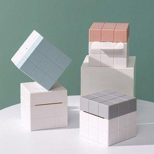 Tissue Boxes & Napkins Brand Magic Cube Box Desktop Paper Holder Dispenser Storage Napkin Case Organizer For Home Car El
