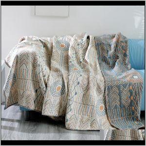 Blankets Six Layers Toddler Kids Lounge Chair Quilt Blanket Women Manta Cape El Restaurant Plaids Lfbkz G6I1T