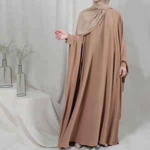 Eid Muslim Women Prayer Garment Dress Jilbab Abaya Long Khimar Bat Sleeve Kaftan Ramadan Gown Abayas Islamic Clothes Niqab Burka