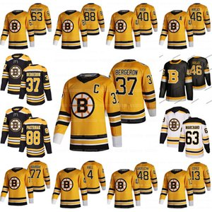 37 Patrice Bergeron Boston Bruins 2021 Retro David Pastrnak Taylor Hall Charlie McAvoy Trent Frederic David Krejc Brad Marchand Coyle Ray Bourque Jersey