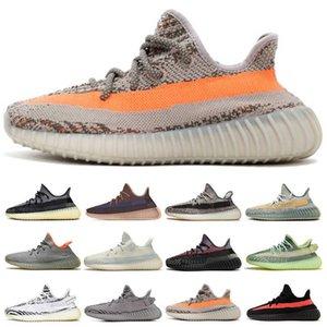 2021 Top Static 3M Reflective Running Shoes Belgua 2.0 Semi Frozen Yellow Shoe High Quality Designer Men Women Trainer Sneakers Eur 36-47