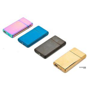 USB-Ladeanzünder personalisierte Metall Intelligente doppelseitige elektrische Draht-Zigaretten-Feuerzeuge Sea EWC7324