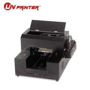 Impresora de inyección de tinta de escritorio portátil Metal de madera Vidrio de silicona Patrón de colorido Patrón de impresión A4 Impresoras de tamaño A4