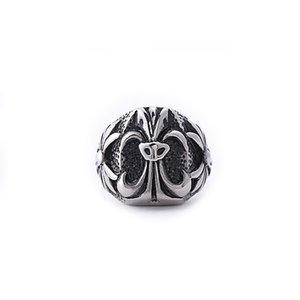 أزياء ماركة chromhearts الرجعية الصليب الفرقة خواتم الرجال خمر شخصية التيتانيوم المقاوم للصدأ الهيب هوب الشرير الصخرة الذكور البنصر المجوهرات هدايا size8-12