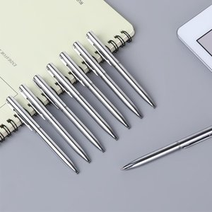 Mini New Advertising Pen Waterborne Metal Ballpoint Stationery Gel Signature Office and School Supplies