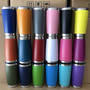 20oz Car cups Stainless Steel Tumblers Cups Vacuum Insulated Travel Mug Metal Water Bottle Beer Coffee Mugs With Lid 18 Colors