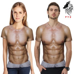 Men's 2021 Summer Muscle Figure Short Sleeve T-shirt 3d Digital Printing Loose Round Neck Top