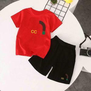 In stock Luxury Logo Designer Boy T-Shirt Pants 2-7 Years Set Brand Children 2 Piece Cotton Clothing Boys Fashion Apparel