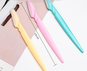 3 colors 1200pcs Face Eyebrow Hair Removal Razors Shaper Trimmer Shaver Women Facial Razor with Precision Cover Stainless Steel Makeup Tool