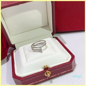 Luxury Designer Ring Jewelry Nail Diamond Rings no Box Engagements For Women Mens Love Ring C Gold Rings Necklaces 925 Sterling Silver